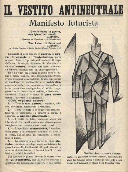 vestito futurista manifesto